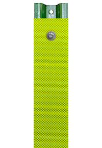 Yellow-Green Reflective U-Channel Post Panel