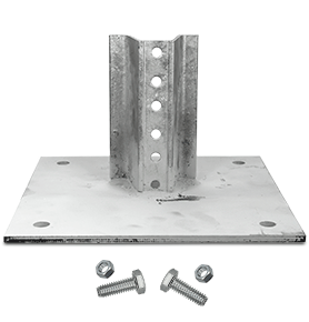 U-Channel Post Surface Mount Base