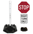 40 lb. Portable Sign Stand with 10 lb. 6' Post