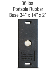 Replacement 36lb. Portable Rubber Base