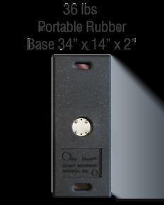 Replacement 36lb. Portable Rubber Base