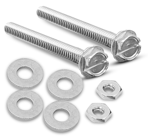 "3/16 x 1-1/2"" Bolting Set (2 bolts, 2 nuts, 4 washers)"