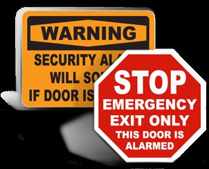 Door Alarm Signs
