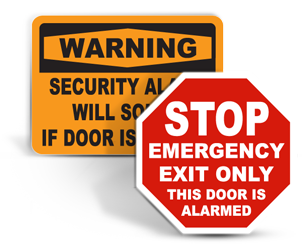 Alarmed Door Signs
