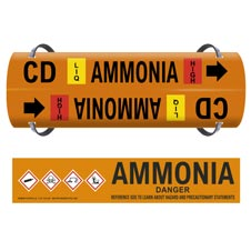 Ammonia Pipe Markers