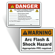 Arc Flash Warning Labels
