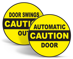 Automatic Door Stickers