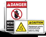 Automatic Start Warning Labels