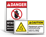 Automatic Start Warning Labels