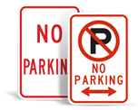 Basic No Parking Signs