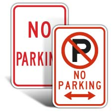 Basic No Parking Signs