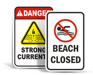 Beach Safety Signs