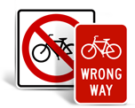 Bike Road Signs