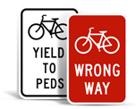 Bike Parking Lot Signs