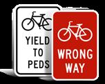 Bike Parking Lot Signs