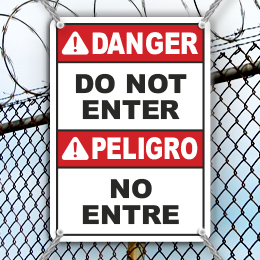 Do Not Enter Safety Signs