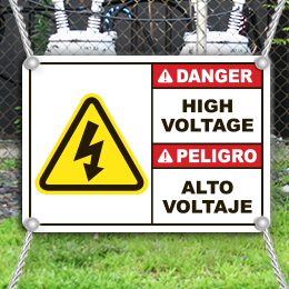 High Voltage Signs