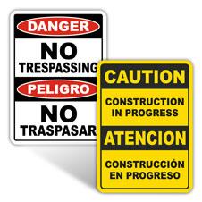 Custom OSHA-1996 Signs