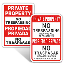 Bilingual Private Property Signs
