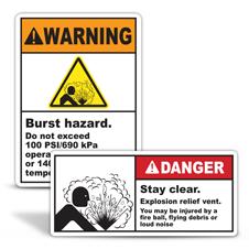 Burst Hazard Labels
