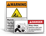 Burst Hazard Labels