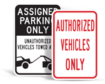Business Parking Signs