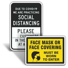 Business Social Distancing Signs