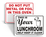 Cafeteria Signs