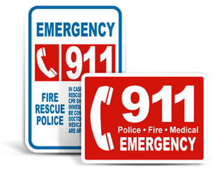 Emergency 911 Signs