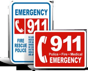 Emergency 911 Signs