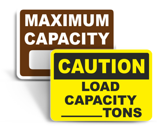 Weight Capacity Signs