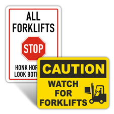 Forklift Safety Signs