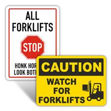 Forklift Safety Signs