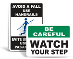 Caution Watch Your Step Signs