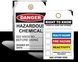 Chemical Hazard Tags