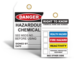 Chemical Hazard Tags