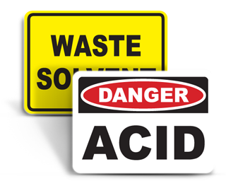 Chemical Identification Signs