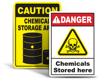 Chemical Storage Signs