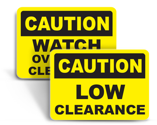 Clearance Signs