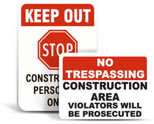 Construction Property Signs