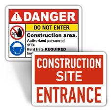 Construction Entrance Signs