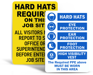 Construction PPE Signs