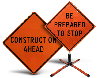 Construction Work Signs