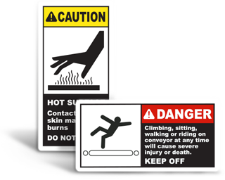 Conveyor Safety Labels