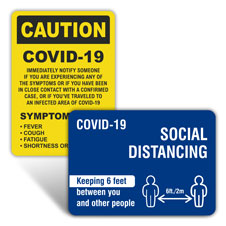 COVID-19 Safety Signs