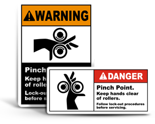 Crushing Hazard Labels