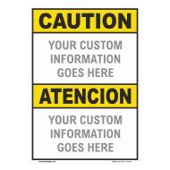 Custom ANSI Z535.2 Bilingual  Signs