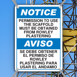Custom Bilingual ANSI Z535 Safety Sign