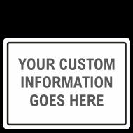 Custom Blank Safety Signs