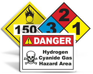 Custom Chemical Hazard Signs